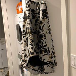 Eliza J. Voluminous High Lo Skirt